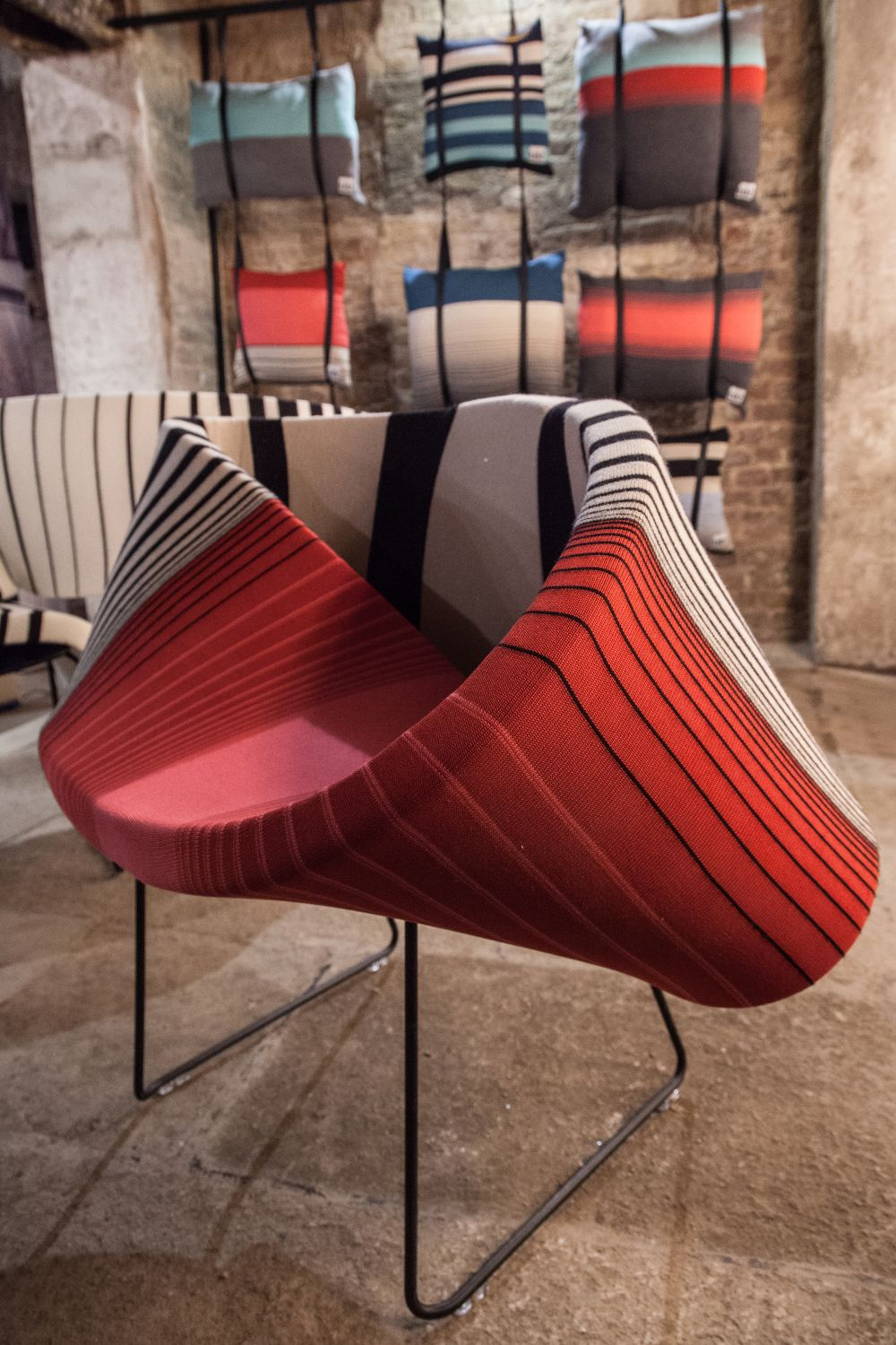 Some curved sofas have designs that inevitably turn them into sculptural focal points