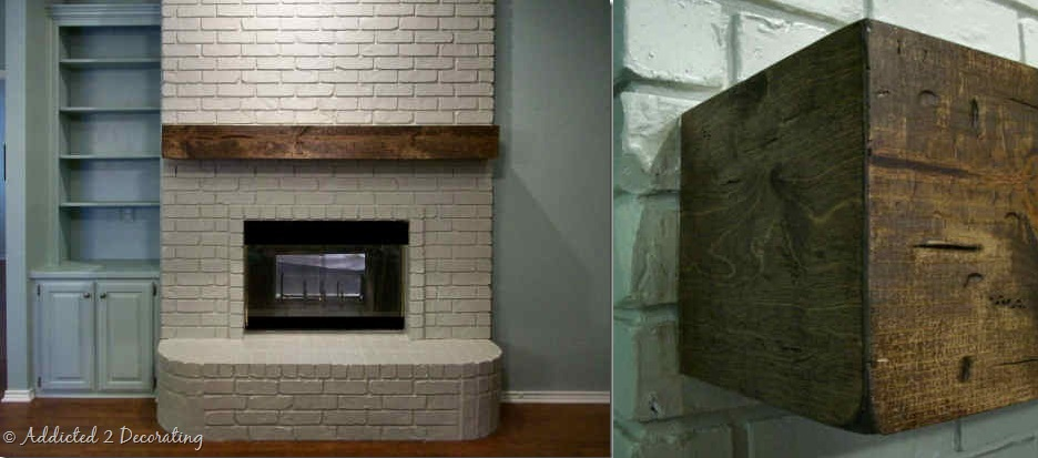 view in gallery - Fireplace Mantel And Bookshelves