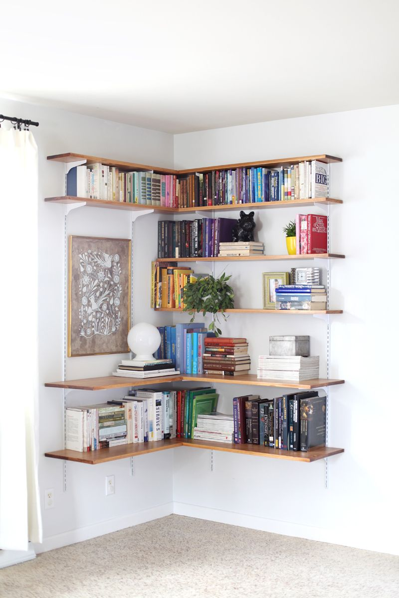 Uncategorized Corner Shel 15 ways to diy creative corner shelves