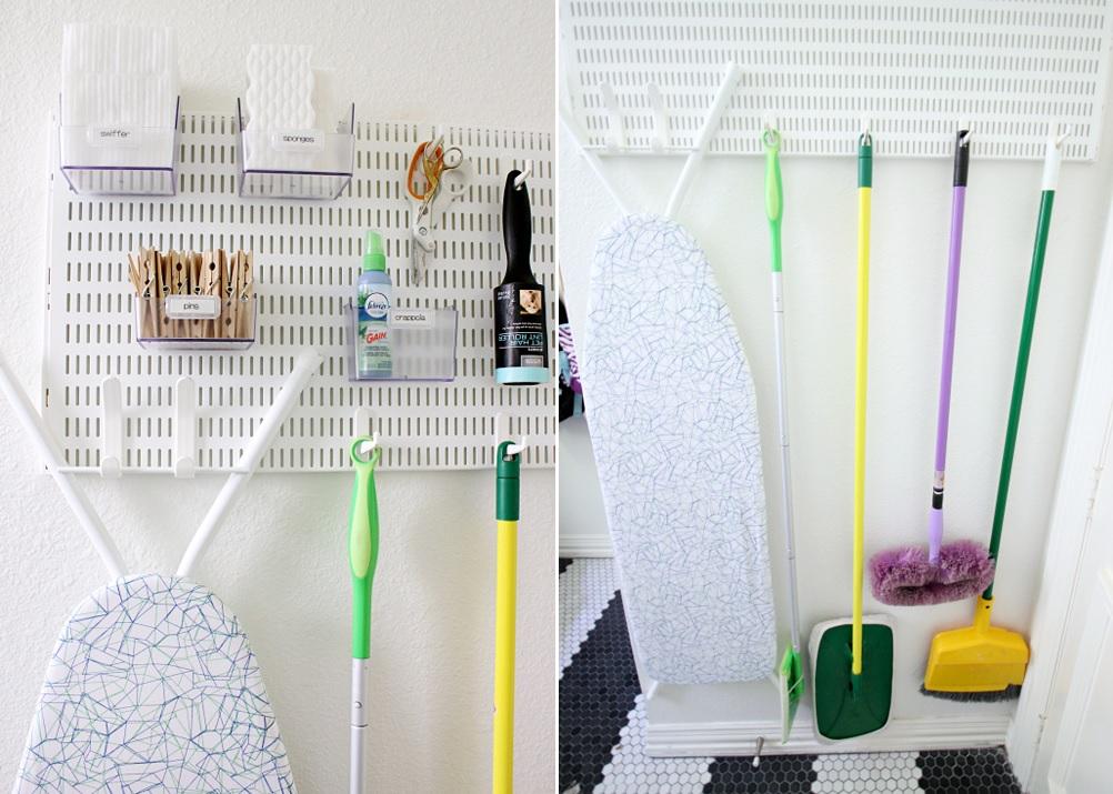 تنظيم غرفة الغسيل - تعليق الأدوات