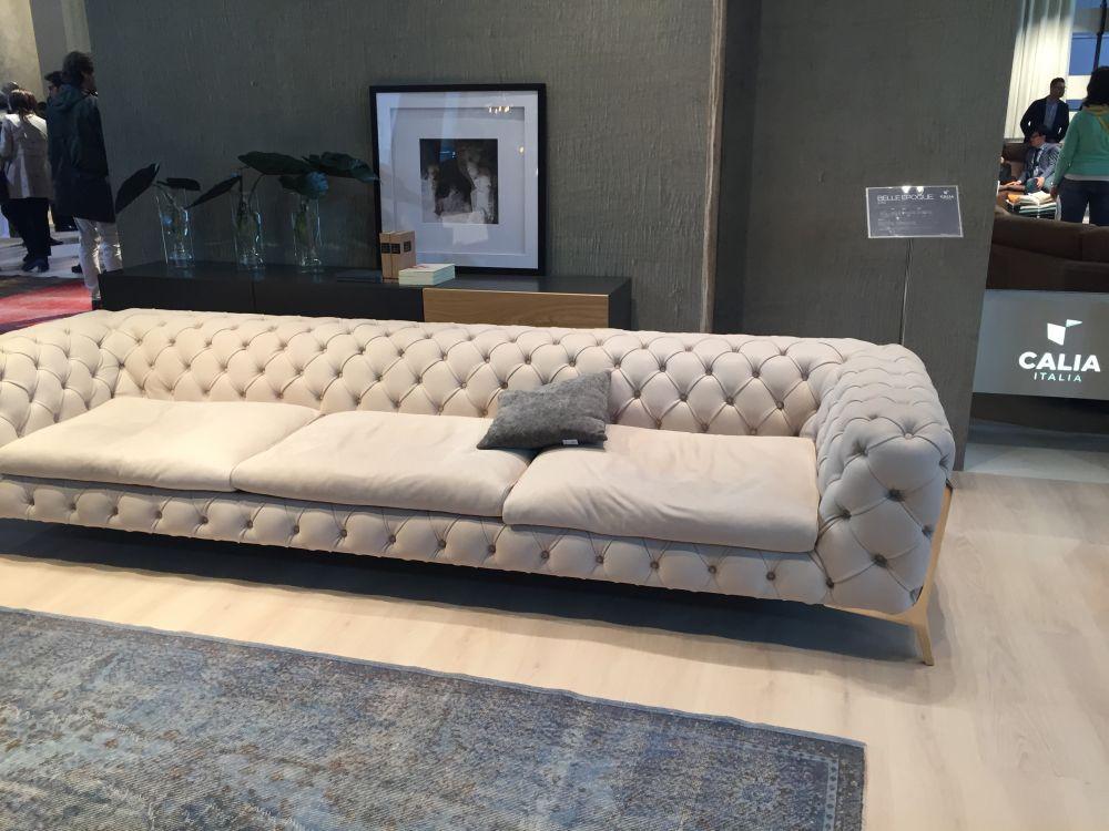 Tufted Modern Sofa Edloe Finch Foxley Blue Velvet Sofa