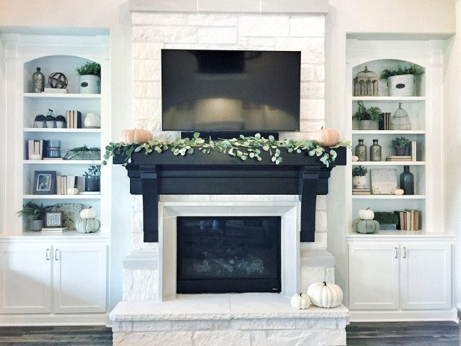 home decorating trends homedit - Black Fireplace Mantels