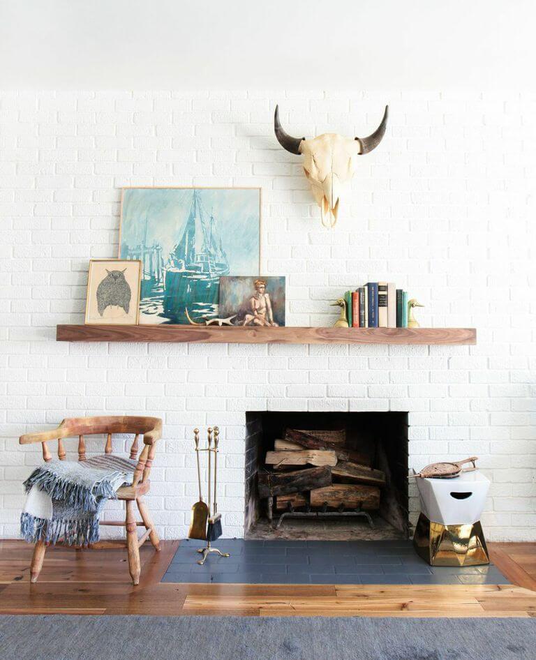 Mantel shelf layer decor
