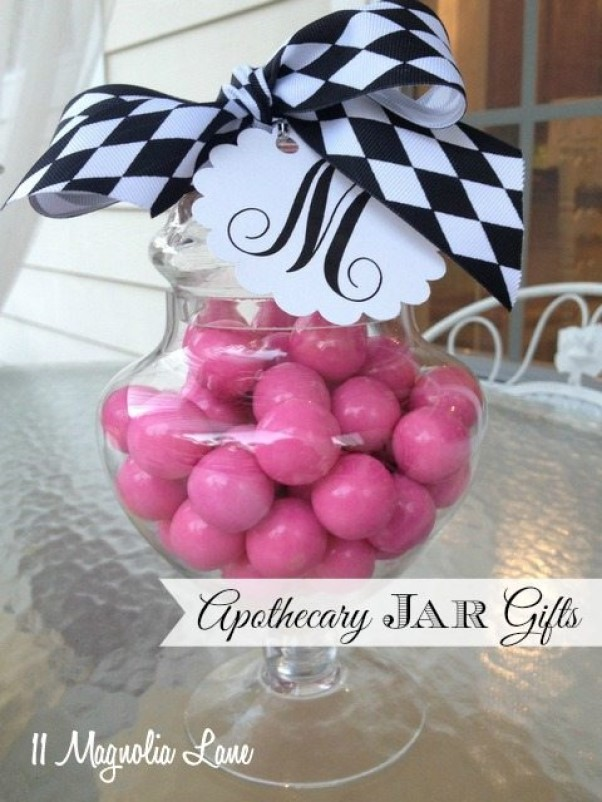 Monogrammed Apothecary Jars