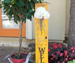 Pallet String Art Welcome Sign DIY