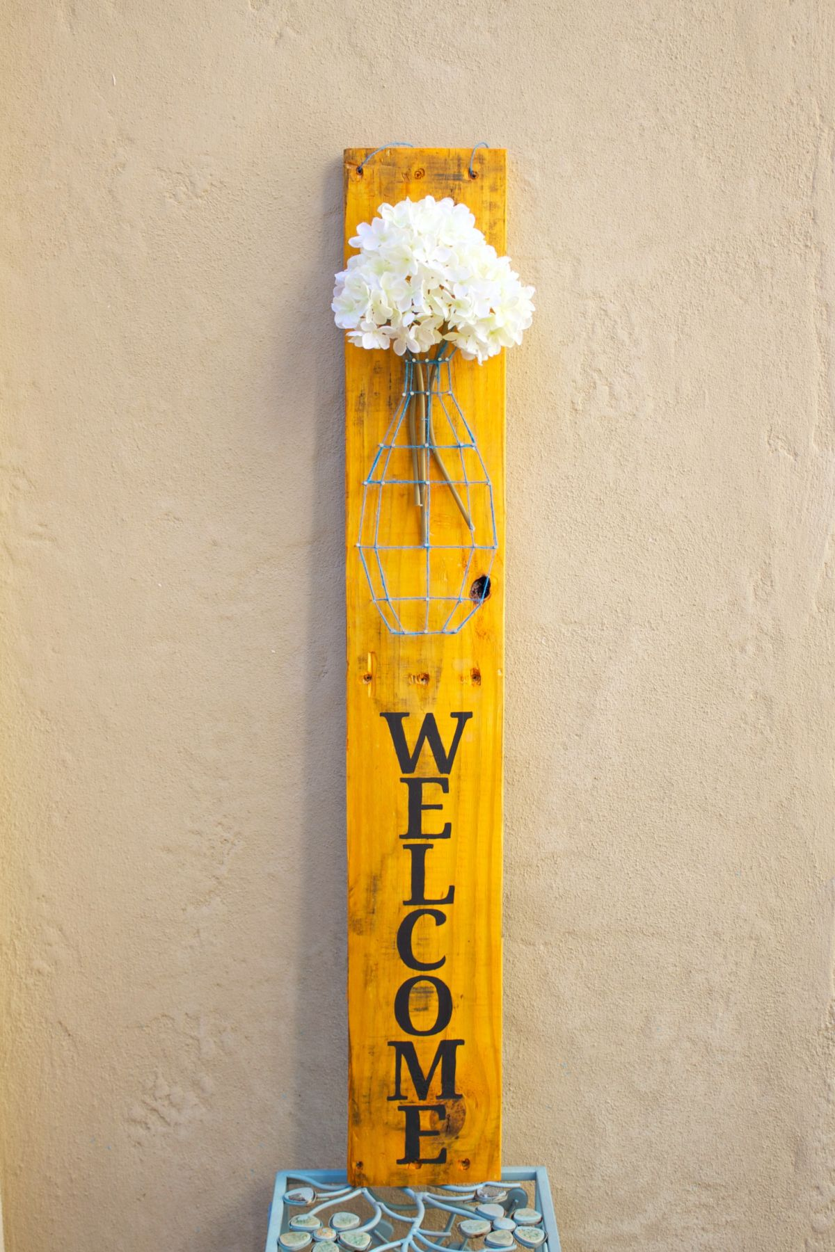 Pallet String Art Welcome Sign Diy