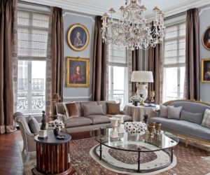 The Trimmed And Tailored Drapes In This Parisian Living Room Are A Bit More  Formal.