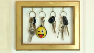 Turn an Old Picture Frame into a Key Holder