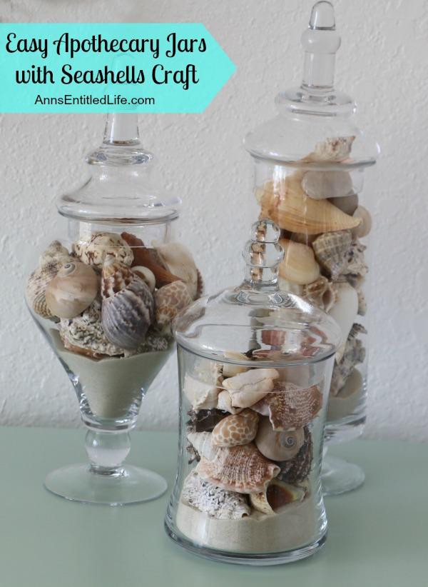 Seashell Apothecary Jars