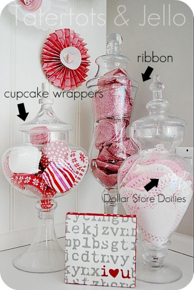 Valentine Apothecary Jars
