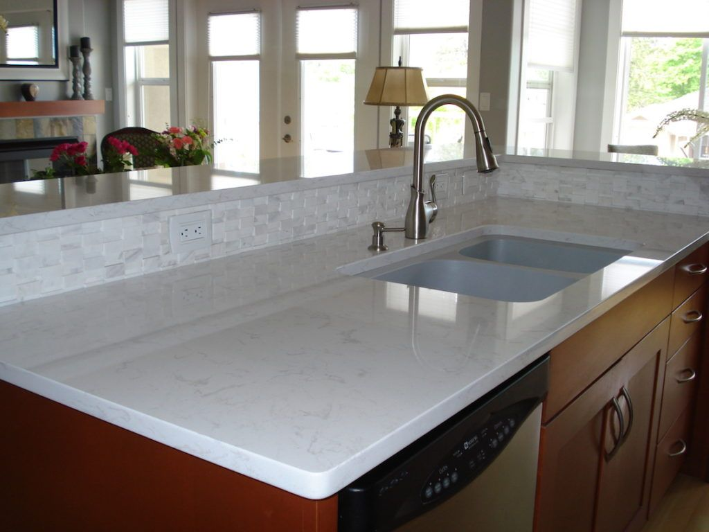 White Quartz Countertops : Quartz countertops a durable easy care alternative