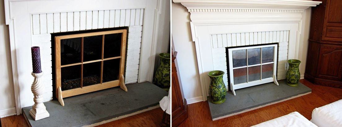 wooden fireplace screens. View in gallery 10 Ideas to DIY Your Own Fireplace Screen