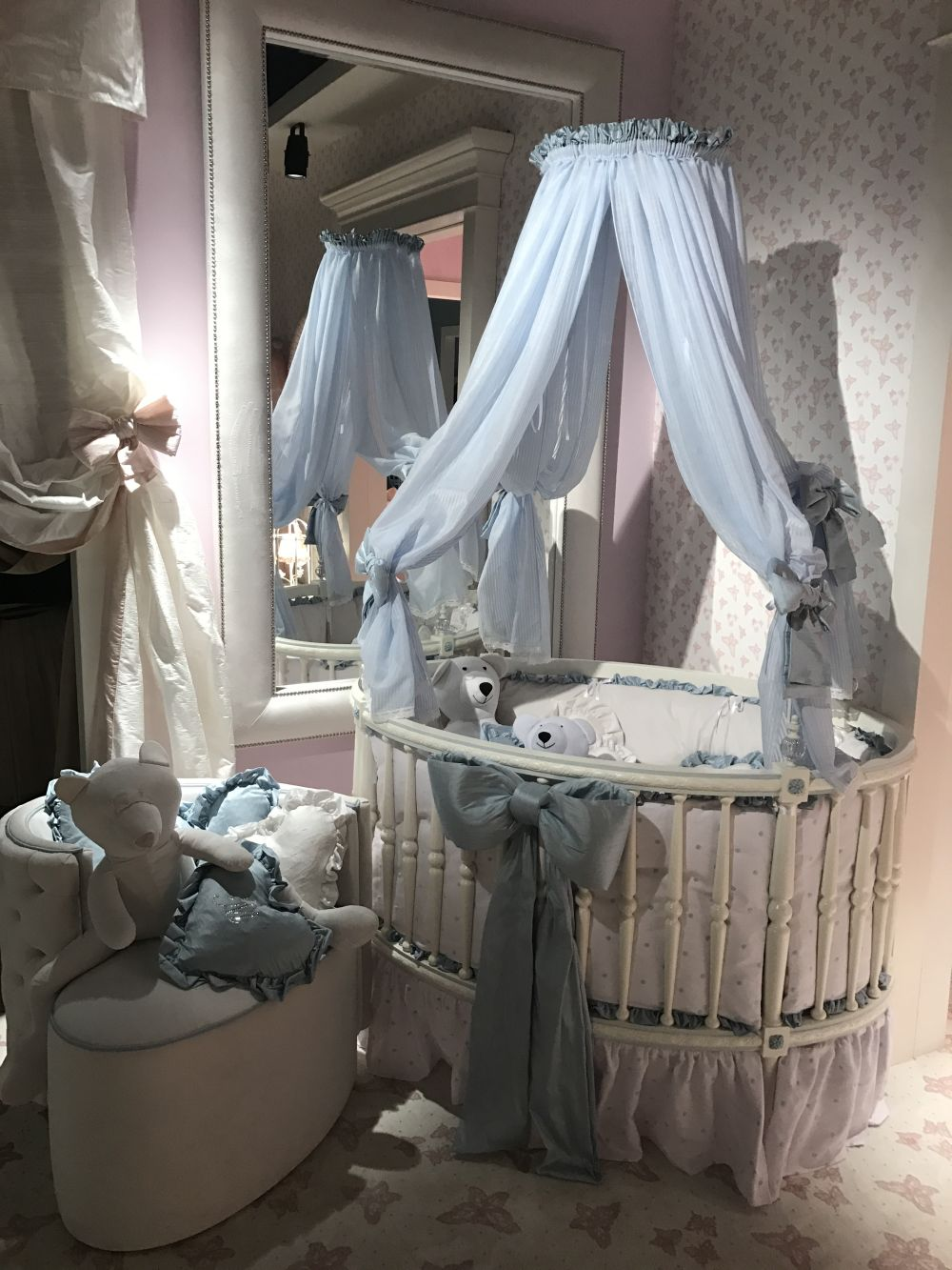 For the first few months of a baby's life, the crib will be the most important element in the room