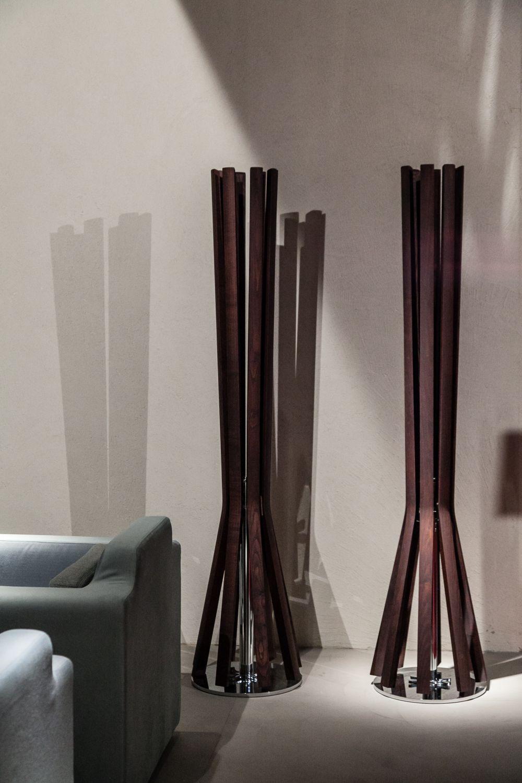 Modern coat rack view in gallery