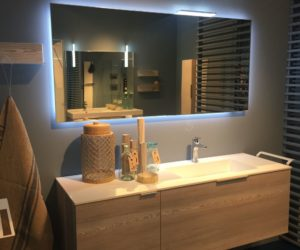 Bathroom Design With Backlit Mirror