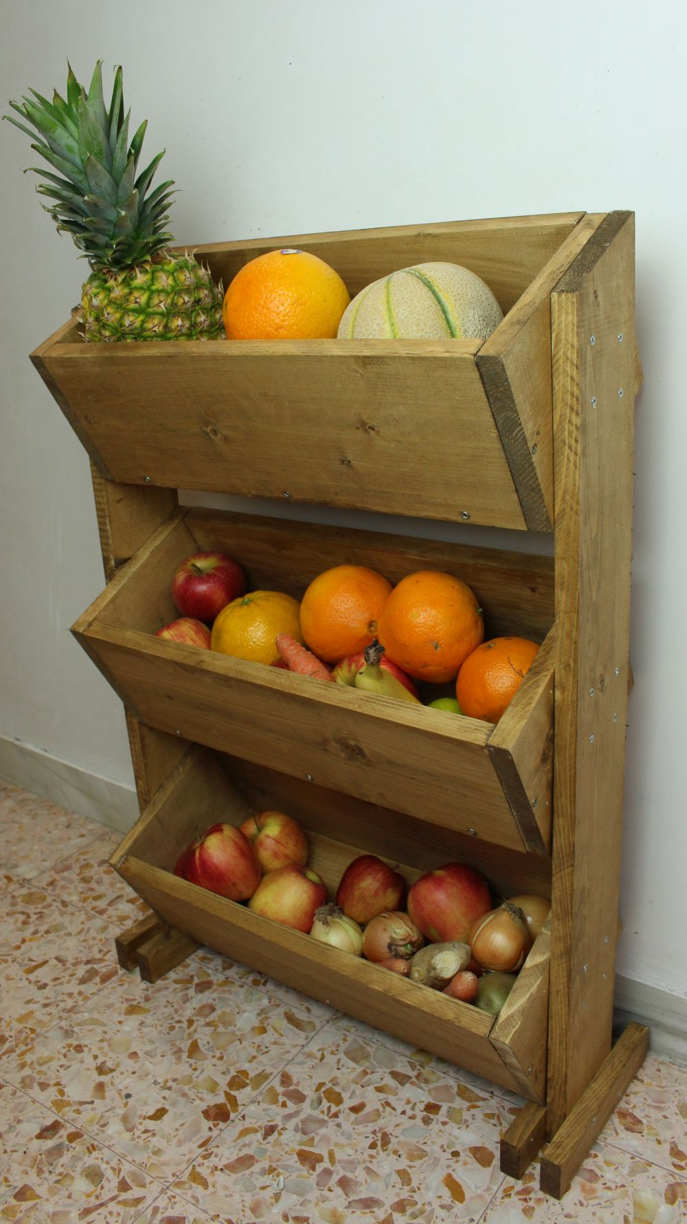 Build A Market Style Wooden Fruit Holder