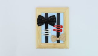 DIY a Nifty Framed Hair Accessory Organizer