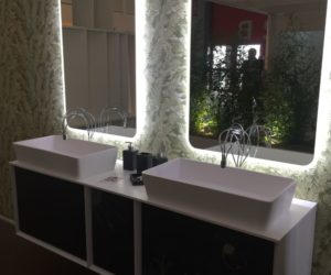 Charmant Double Sink Vanity With Backlit Mirror