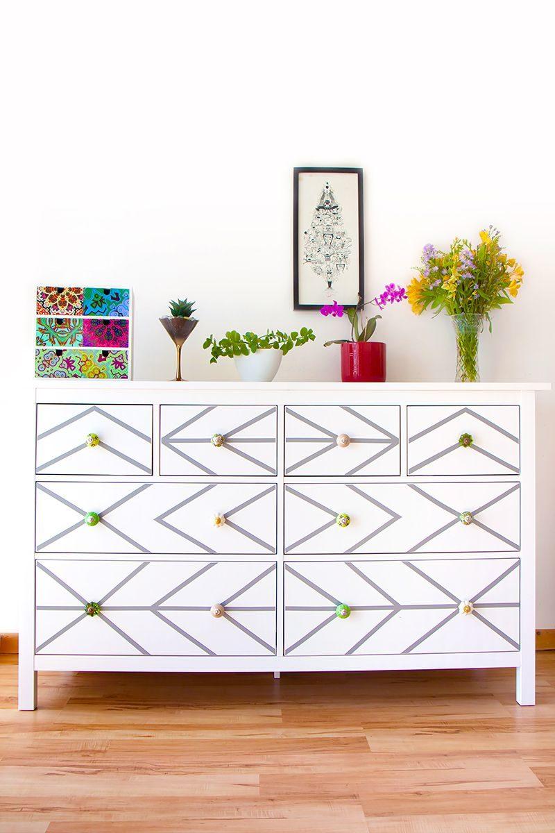 DIY IKEA Dresser Hack With Contact Paper