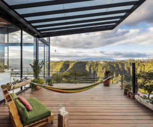 A House With Views Of A Canyon And A Roof That Mimics Mountains