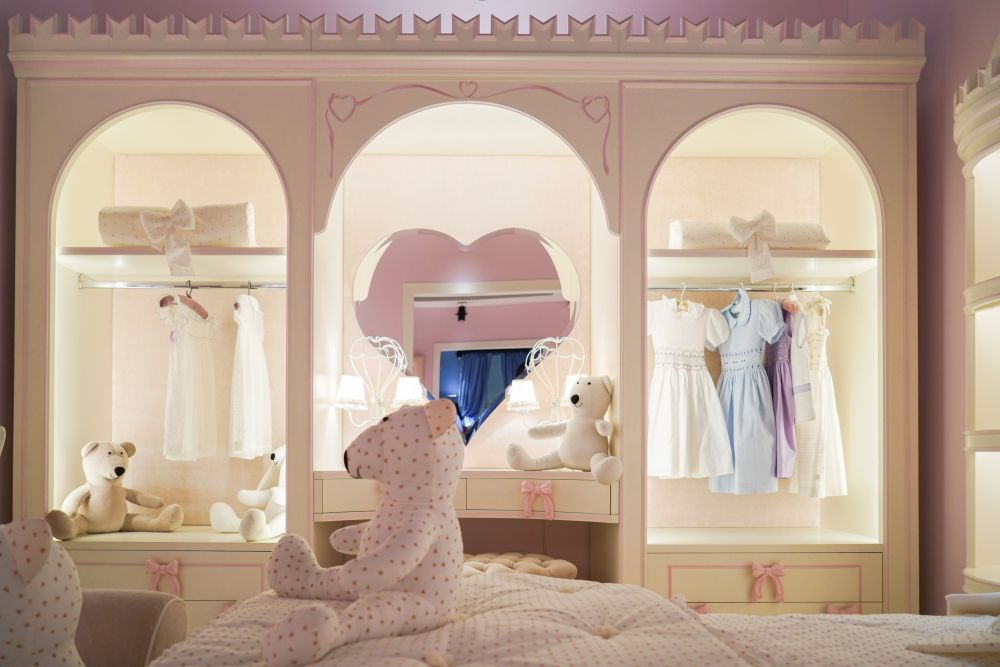 You can turn anything into.a work of art, even make a closet look like a princess' wardrobe