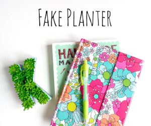 DIY Mini Monogram Fake Planter