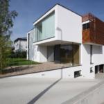 Modern house with underground garage