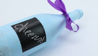 Paint Your Own Chalkboard Bottle