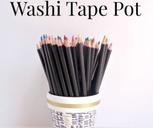 DIY Terracotta Washi Tape Pot