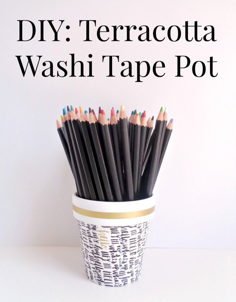 DIY Terracotta Plant Pots With Washi Tape