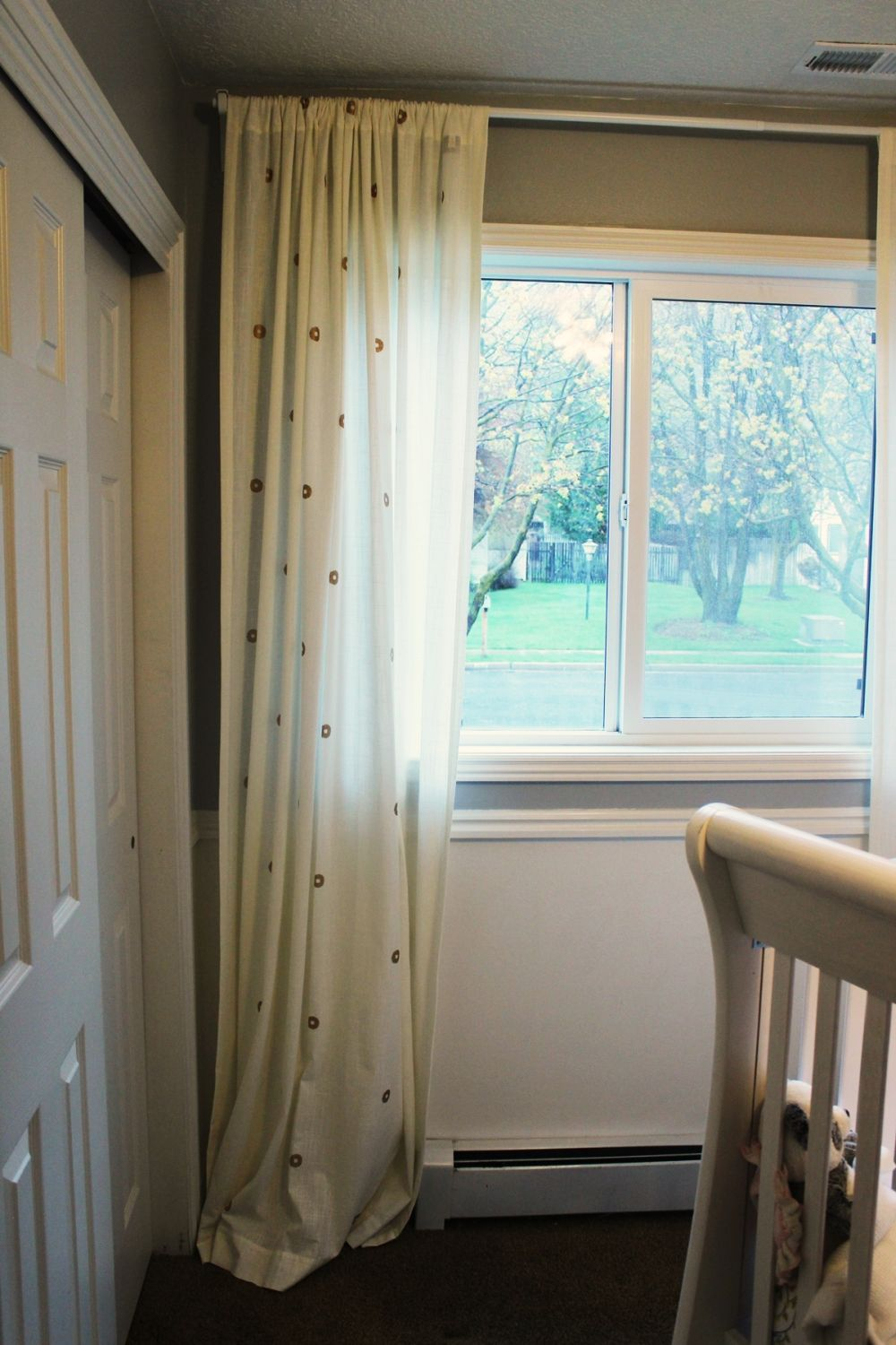 even something as small as a narrow walkway by the window so you can pull the curtains
