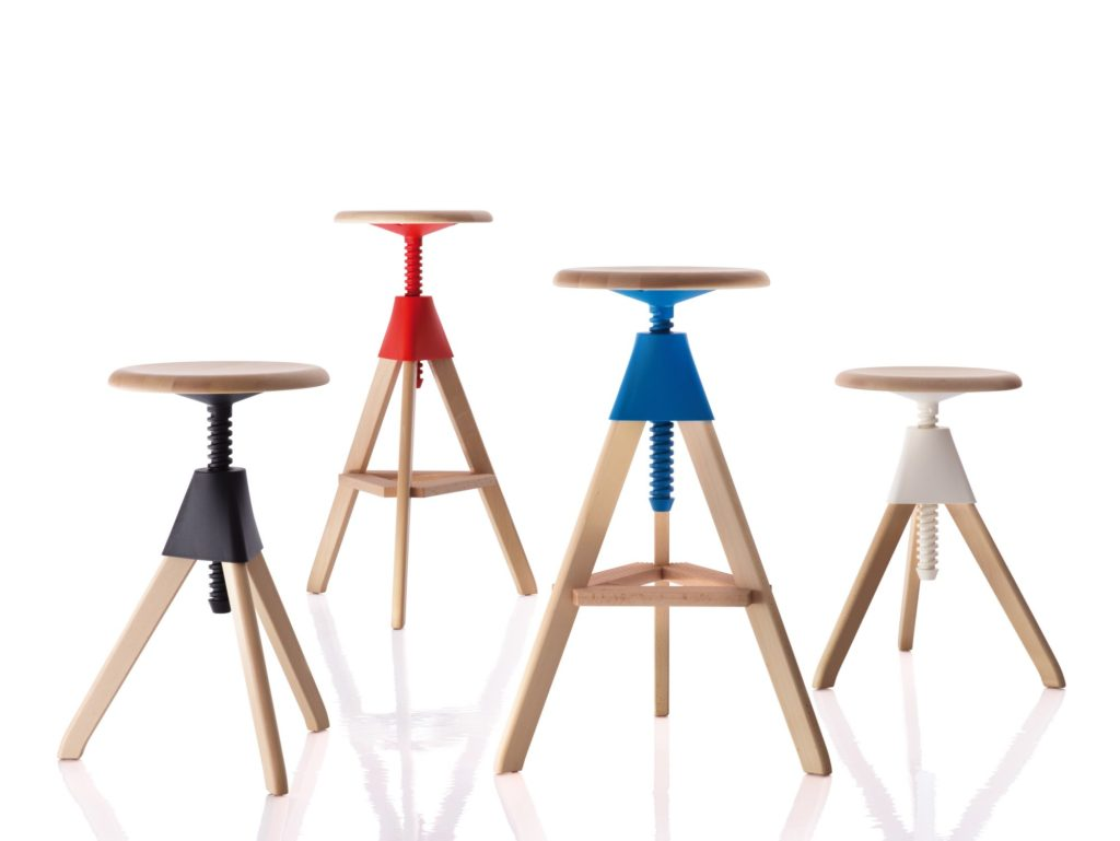 colorful bar stools for your family kitchen - view in gallery