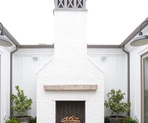 20 White Brick Exterior Walls To Envy Part 96