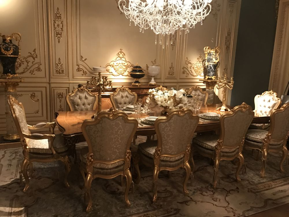 This dining room is a great example of how grand and extravagant Baroque  rooms can be.