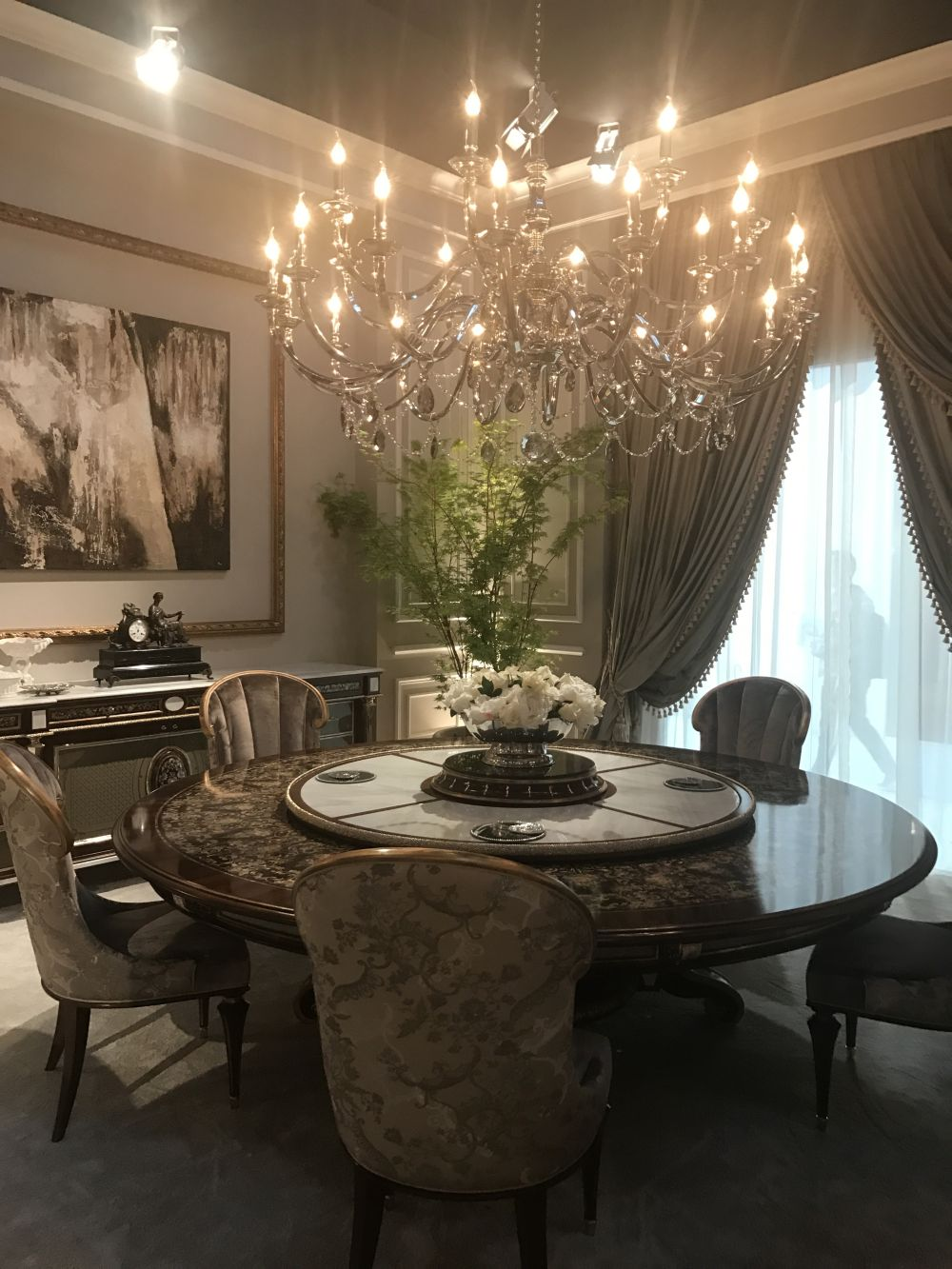 This Rococo room features a more fanciful chandelier  a marquetry table and  lighter upholstery with an Asian influence. Details Make the Difference in Baroque  Rococo Style Furniture