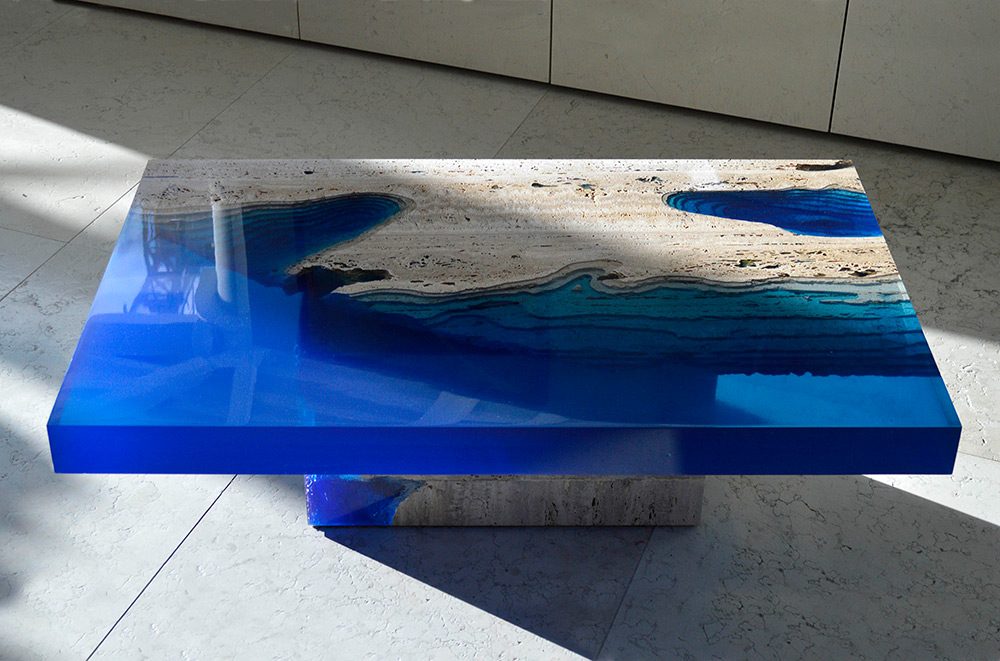 Resin Furniture Forever Encapsulates Beauty In Extraordinary Designs - This amazing resin table is made using 50000 year old wood
