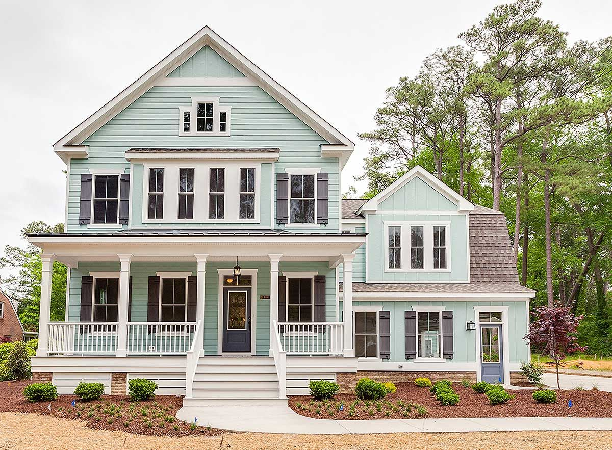 The case to paint your whole house mint green for Amazing home exteriors