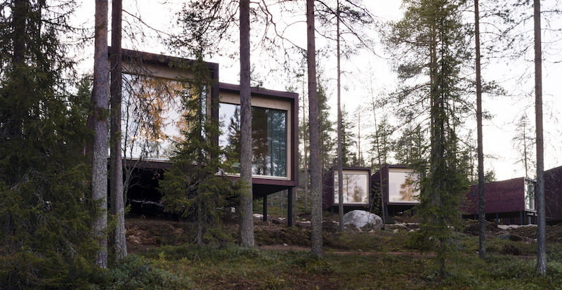 The Arctic Treehouse Hotel Welcomes Guests In Timber Units Framed By Trees