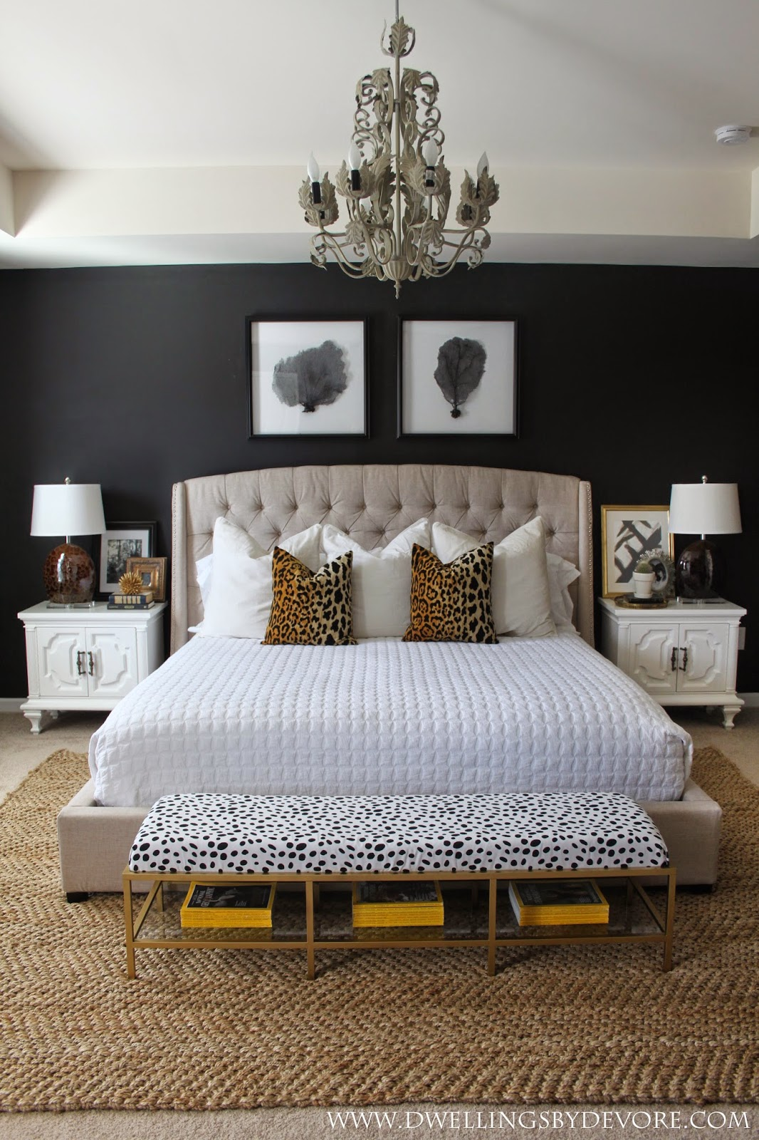15 Luxurious Black And Gold Bedrooms Part 9