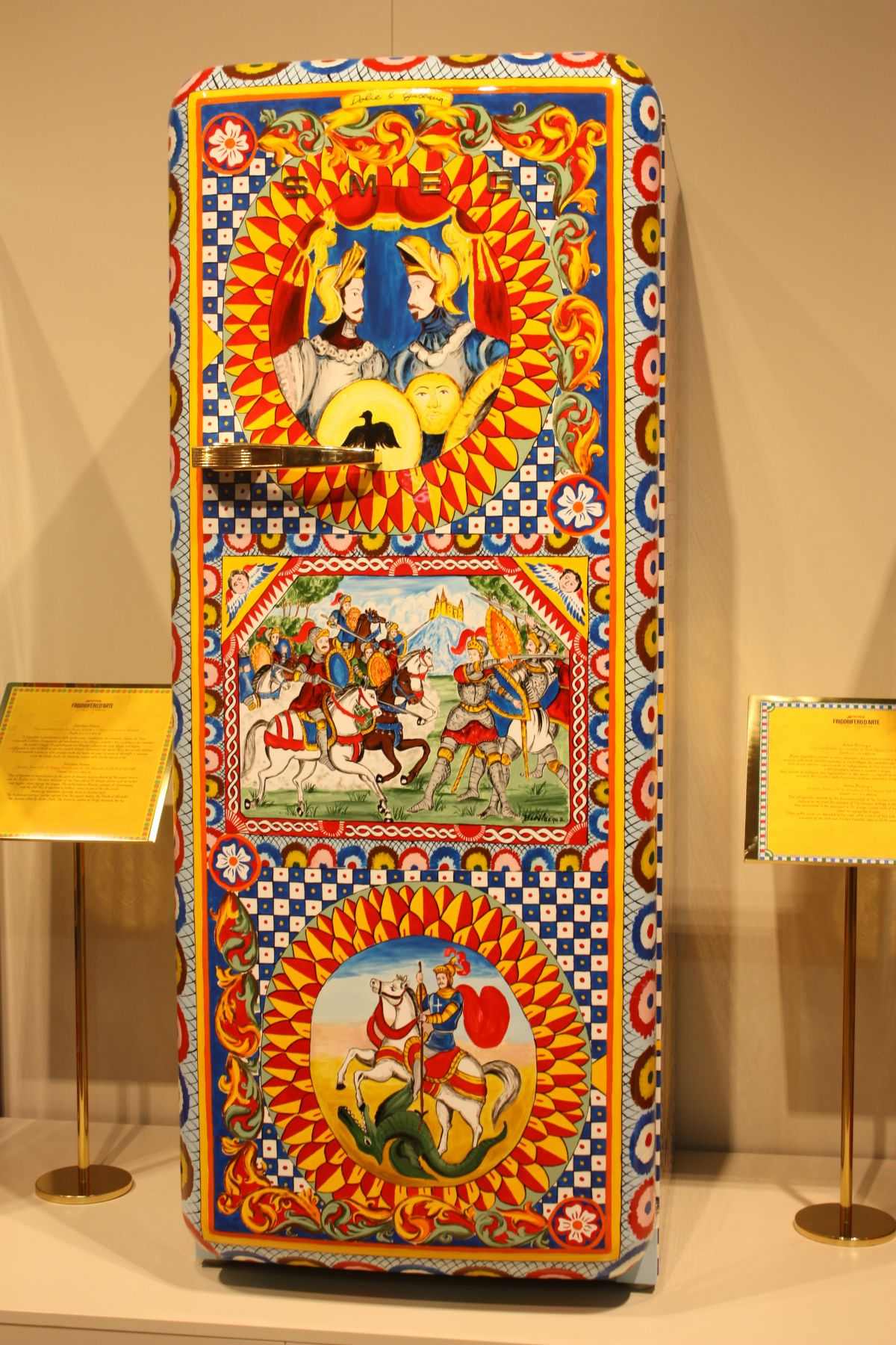 The design are unique and depict a variety of scenes inspired by Sicilian artists