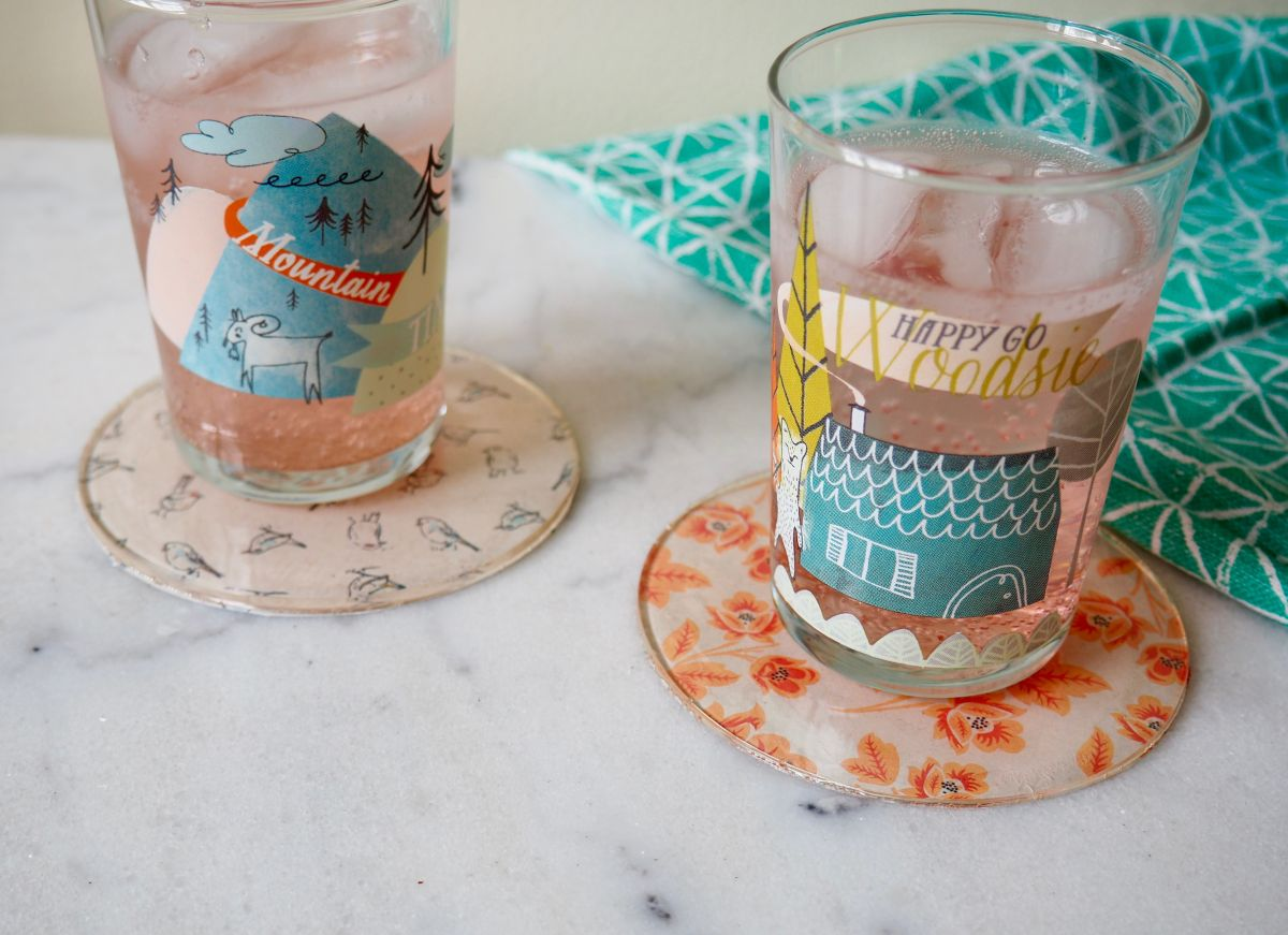 Simple DIY Patterned Coasters Using Resin