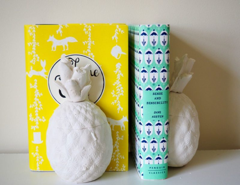 DIY Plaster Pineapple Bookends For Your Home