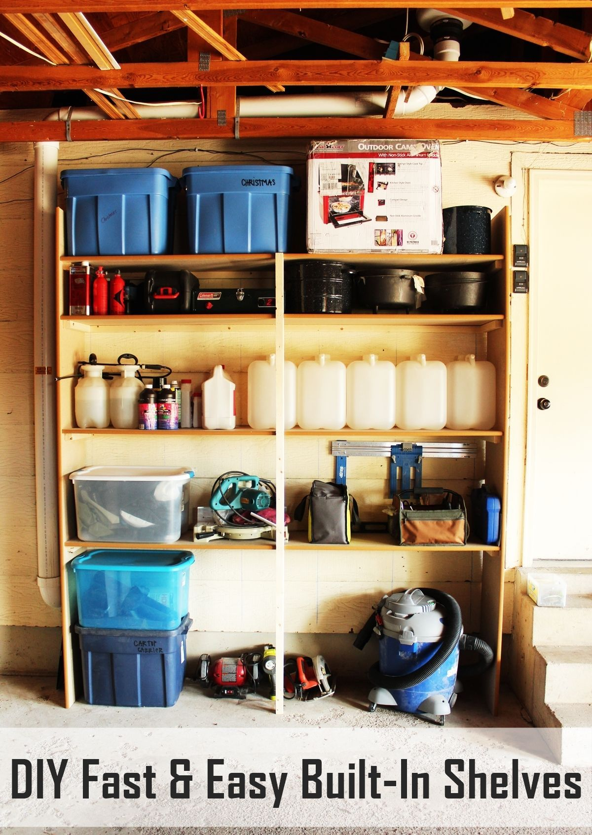 shelf creative garage home ideas diy storage decor