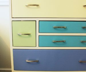 DIY Retro Rainbow Wooden Dresser