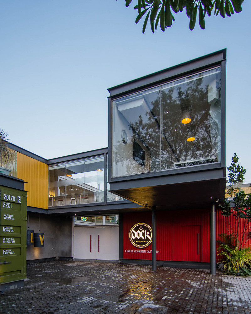 A Club That Mimics The Unique Look Of Shipping Containers
