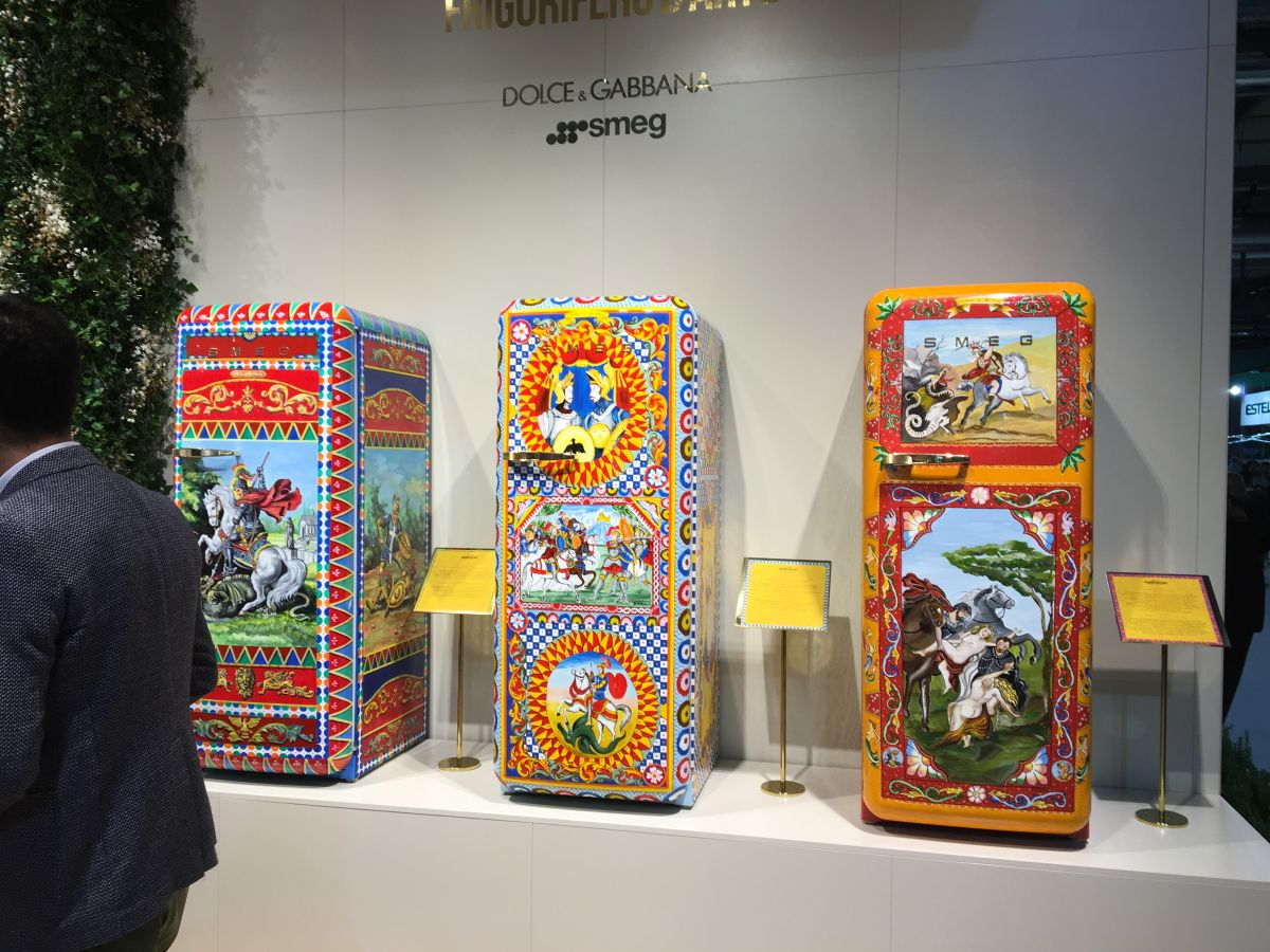 This is a collection of refrigerators created by smeg in collaboration with Dolce&Gabbana