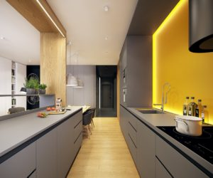 Contemporary Gray Kitchen Cabinets modern gray kitchen cabinets beat monotony with style