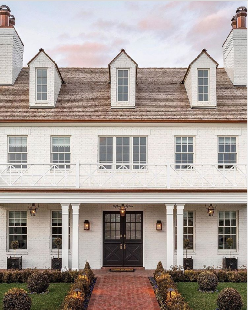 Go All Out With White Painted Brick Exterior