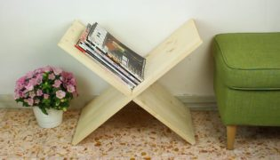 Make A Clever X Shaped Magazine Rack