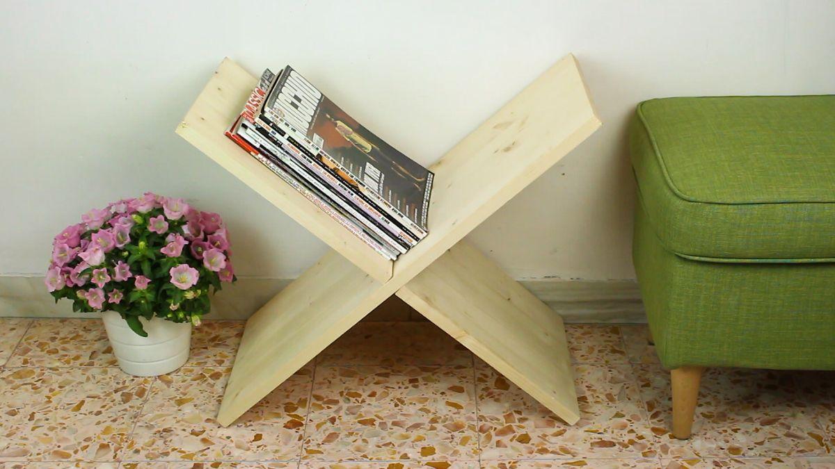 Make A Clever X Shaped Magazine Rack